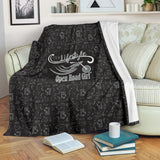 GREY/BLACK Open Road Girl Scatter Regular Blanket