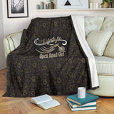 GOLD/BLACK Open Road Girl Scatter Regular Blanket