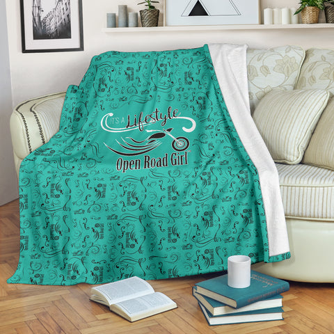 TEAL Open Road Girl Scatter Regular Blanket