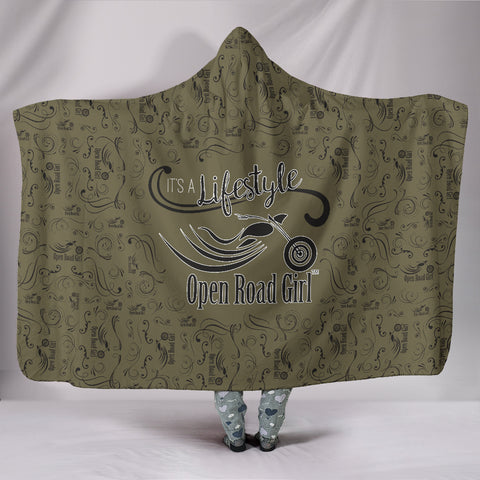 GOLD Open Road Girl Hooded Blanket, 2 Sizes