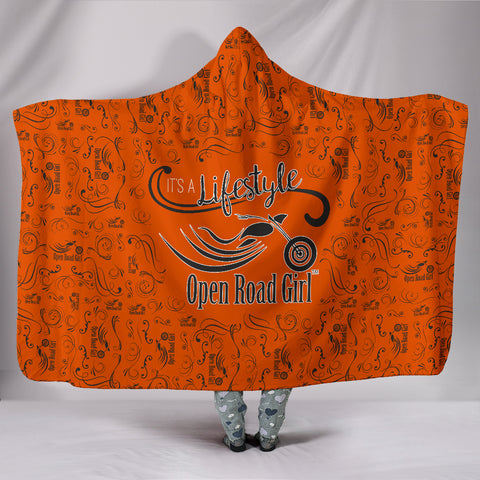 ORANGE Open Road Girl Hooded Blanket, 2 Sizes