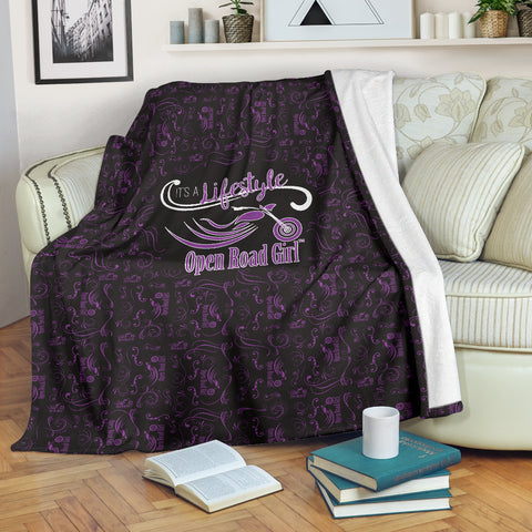 PURPLE Open Road Girl Scatter Regular Blanket
