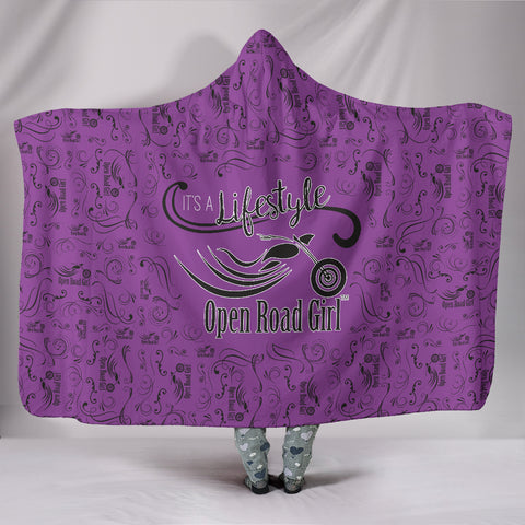 PURPLE Open Road Girl Hooded Blanket, 2 Styles