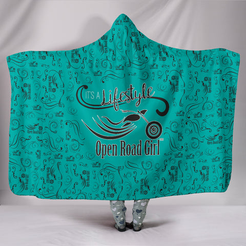 TEAL Open Road Girl Hooded Blanket, 2 Sizes