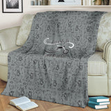 GREY Open Road Girl Scatter Regular Blanket