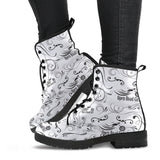 BLACK Scatter Open Road Girl PU Leather Boots