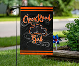 Open Road Girl on Motorcycle Garden or House FLAG ONLY, 7 COLORS