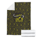 YELLOW Open Road Girl Scatter Regular Blanket