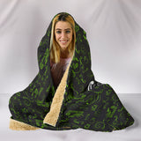 GREEN//Black Open Road Girl Hooded Blanket, 2 Sizes