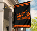 Open Road Girl Design lawn or Home FLAG ONLY, 7 COLORS