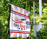 Patriot Open Road Girl Garden or House FLAG ONLY