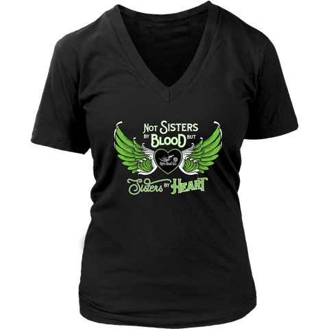 GREEN Not Sisters by Blood...Open Road Girl Vneck Shirt