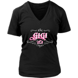 PINK GiGi Women's V-Neck T-Shirt-Short Sleeve