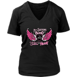 PINK Not Sisters by Blood...Open Road Girl V-Neck Shirt