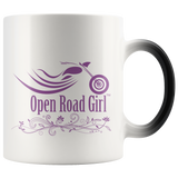 PURPLE OPEN ROAD GIRL 11OZ MAGIC MUG, 2 STYLES