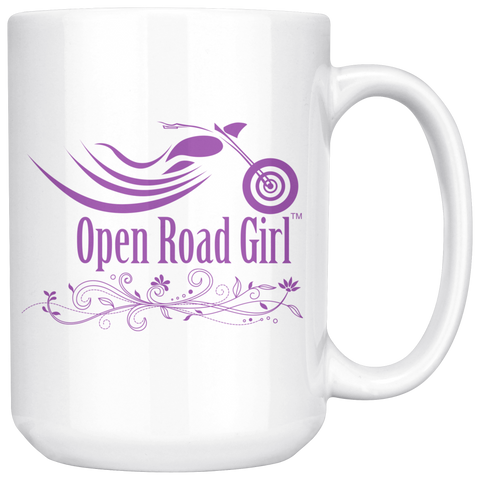 PURPLE OPEN ROAD GIRL 15OZ MUG, 2 STYLES