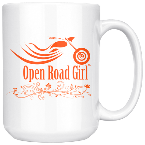 ORANGE OPEN ROAD GIRL 15OZ MUG, 2 STYLES
