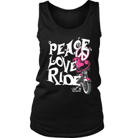 PINK Peace Love Ride Full Back Women's Tank Top