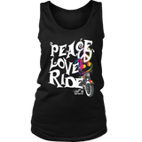 RAINBOW PEACE LOVE RIDE FULL BACK WOMEN'S TANK TOP