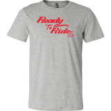 RED READY TO RIDE MEN'S STYLE CREW NECK TEE