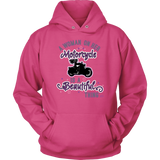 PURPLE A Woman on her Motorcycle is a Beautiful Thing UNISEX Hoodie