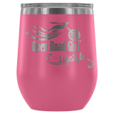 Open Road Girl Wine Tumbler, Its a Lifestyle 12 OZ