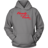 RED READY TO RIDE UNISEX PULLOVER HOODIE