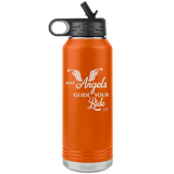 May your Angels always guide your Ride 32 oz Water Bottle Tumbler