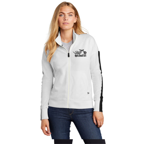 WHITE Open Road Girl Track Jacket