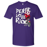 RED Peace Love Ride UNISEX Tee Shirt