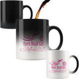 PINK OPEN ROAD GIRL 11OZ MAGIC MUG, 2 STYLES