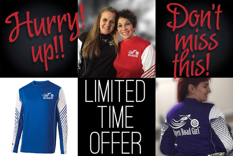 **LIMITED TIME OFFER** OPEN ROAD GIRL LONG SLEEVE WICKING SHIRT