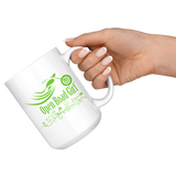 GREEN OPEN ROAD GIRL 15OZ MUG, 2 STYLES