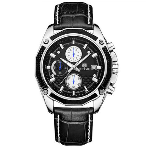 Men Fashion Quartz Leather Watch