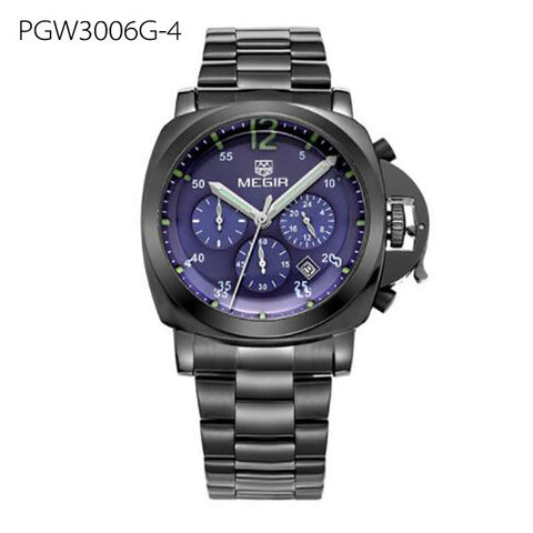 Men's Stainless Steel Waterproof Quartz Watch
