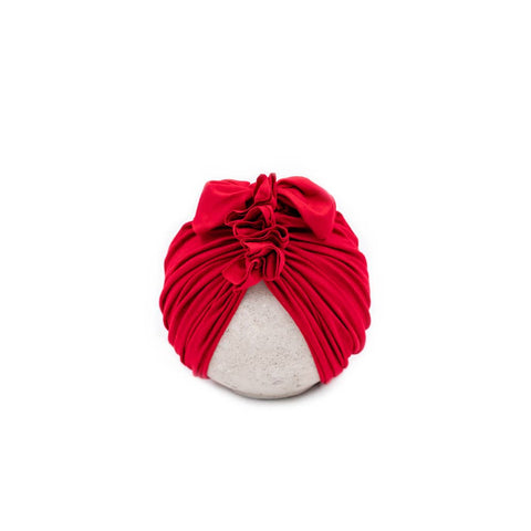 Vintage Head Wrap Hat - Red