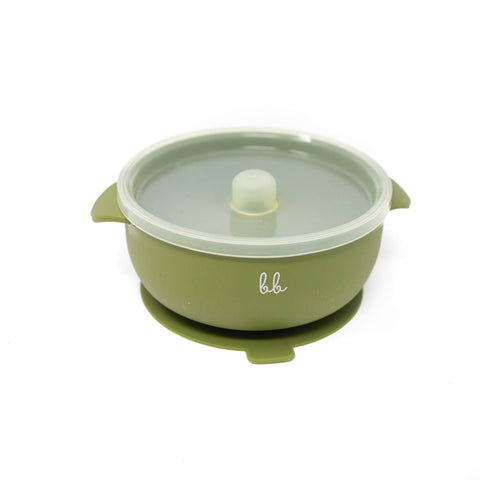 Silicone Bowl: Army Green