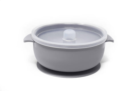 BABY Suction BOWL: Lilac Grey