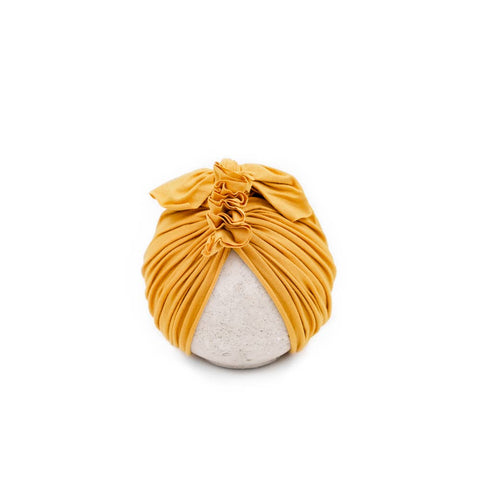 Vintage Head Wrap Hat - Mustard