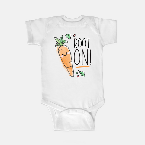 Root on! Carrot onesie