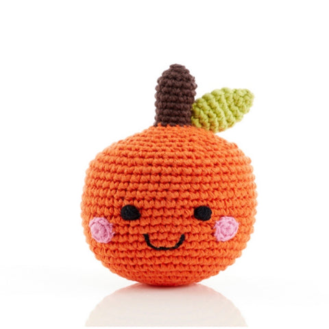 Friendly Orange Rattle - tinybirdstinybees