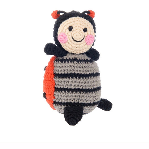 Friendly Ladybug Rattle - tinybirdstinybees