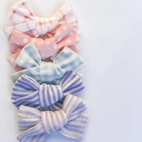 Spring Bows (clip or headband option) - tinybirdstinybees