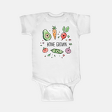 Homegrown veggie onesie