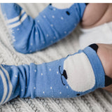Tiny Blue Bears Socks - tinybirdstinybees
