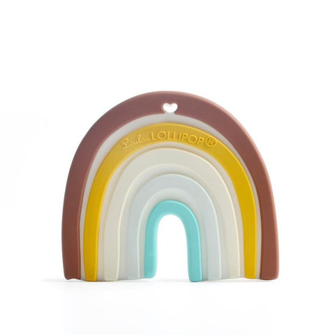 Neutral Rainbow Silicone Teether