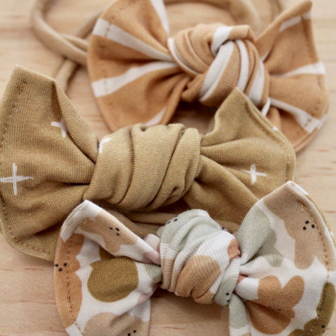 Muted Easter Knot Bows on Nylon