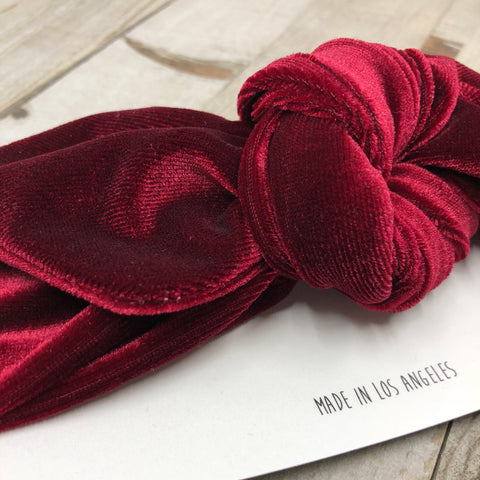 Velvet/Crushed Velvet Top knots (click for more colors) - tinybirdstinybees