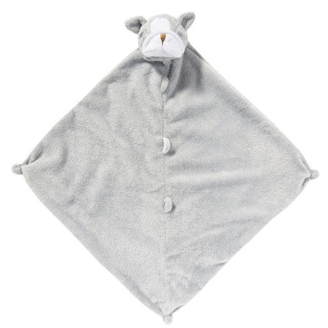 Gray Bulldog Lovie Blanket