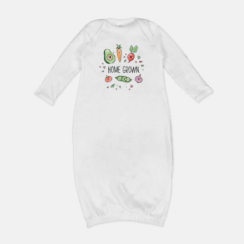 Homegrown Newborn Gown (with Text)